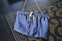 Garay black/navy evening clutch