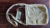 Olive Green and white large canvas shoulder bag