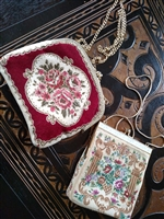 Two vintage tapestry purses