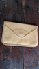 Michael Green leather envelope purse clutch