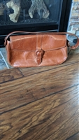 Kenneth Cole brown leather shoulder purse