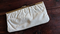 HL USA off white evening clutch large