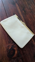 ETRA cream color leather purse with gold tone