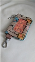 FOSSIL key-per in birdcage decoration wristlet