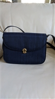 GUY LAROCHE PARIS navy blue shoulder bag