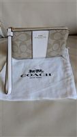 COACH original Gold Pvc signature wristlet