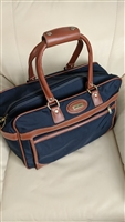 Jaguar TM heavy duty navy blue nylon traveling bag