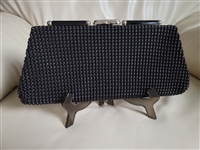 Amazing Midcentury beaded large elegant clutch
