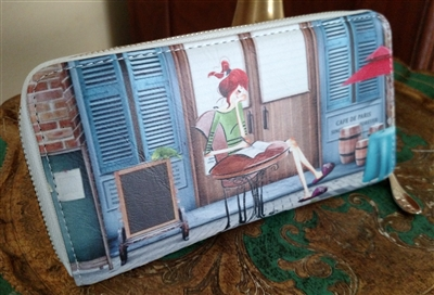 Cafe de Paris carry on multi compartment wallet