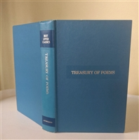 Best Loved Classics Treasury of Poems Anthology 1949 blue hardcover book
