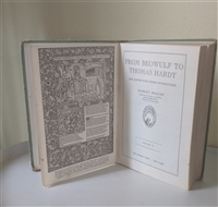 From Beowulf to Thomas Hardy Vol II Robert Shafer