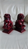 Fu Foo Dogs guardian Lions bookend statues set