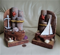 Sails ships and piers Nautical Stainmaster bookend