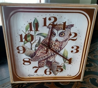 Welby Owl wall clock battery operated novelty