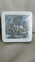 Old watermill bridge coaster set of 6 Avon 1978