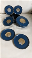 OTAGIRI vintage Japanese coasters in blue box