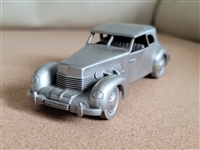 Pewter car 1937 CORD 821 from Danbury Mint England