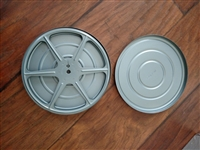 Scherer 8 mm metal film storage reels with cases