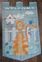Orange Cat heavy duty Nylon outdoor flag display