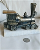 Metal locomotive on marble base bookend door stop