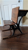 A.H.Andrews antique school desk cast metal