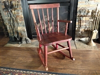 Handmade wooden rocking chair primitive farmhouse