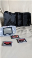 Game Boy Advance 2000 Clear handheld with 3 games