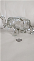 Amazing Tiara Glass Co clear glass elephant dish