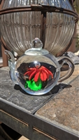 Dynasty gallery mini teapot glass paperweight