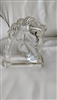 Horse head clear glass bookend paperweight decor