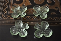 Depression glass clover dipping bowls