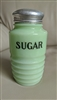 Jadeite by Jeannette sugar glass shaker