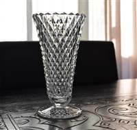 Diamond Point 8 inch glass vase from Indiana Co