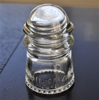 Hemingrey-9 clear glass insulator style 4
