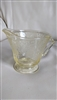 Florentine 2 Yellow depression glass Hazel Atlas