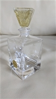 ITALIAN genuine crystal tall perfume bottle