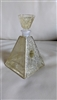 ITALIAN genuine crystal pyramid perfume bottle