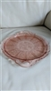 Jeannette Cherry Blossom pink glass serving tray