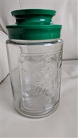 Vintage Tang Jar clear glass jars embossed center