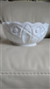 Smith Glass Stars and cane design milk glass bowl