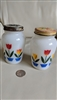 Original Fire King Anchor Hocking tulip shakers