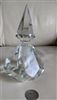 Cut crystal geometrical design huge perfume bottle