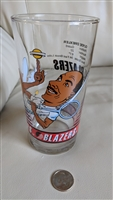 Clyde Drexler Blazers 92 93 glass mug collectible
