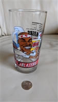 Cliff Robinson Blazers 92 93 glass mug collectible