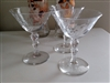 Martini glasses in set of 3