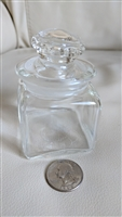 Apothecary clear glass bottle with stopper storage