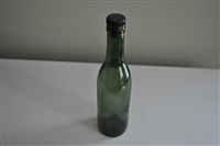 Vintage green beer bottle