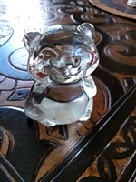 Racoon glass/crystal paperweight