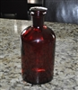 PYREX ruby red apothecary bottle