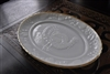 Anchor Hocking Turkey embossed plate
